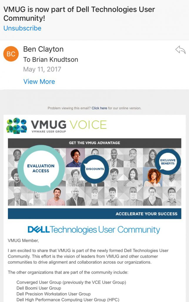 VMUG Voice Email