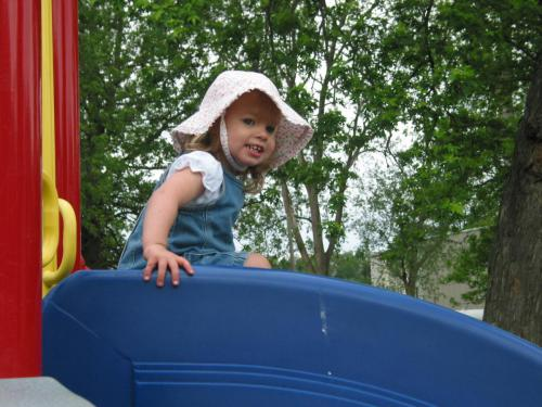 Lillian on the Slide
