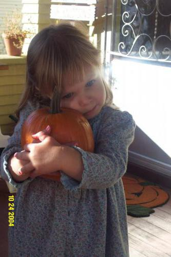 Lilly's tiny pumpkin