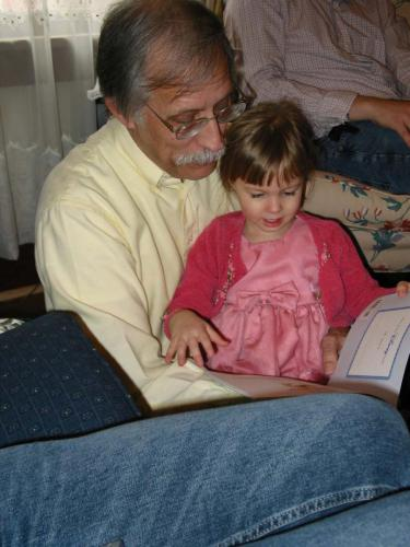 Lillian with Great Uncle Lynn