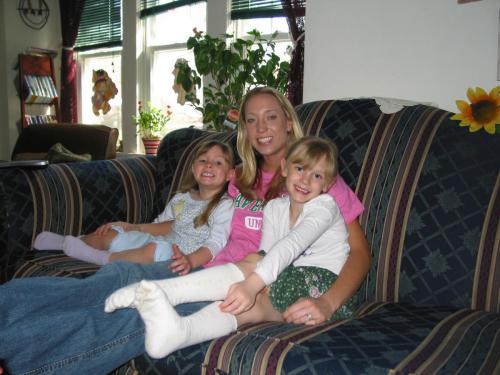 Girls with Aunt Emily Eckels