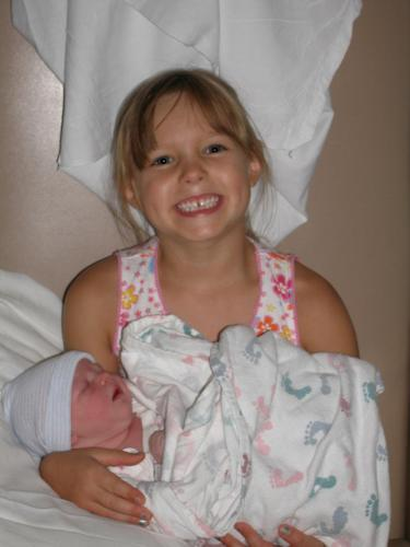 Lilly is a BIG SISTER!!!