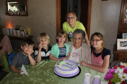 Cousins at Great Grandma's Birthday
