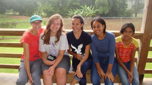 Lilly, Emma, Yeineth, Rosalinda, and Genedis in the DR